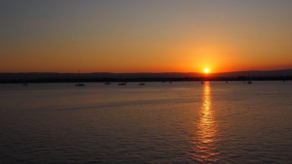 Sonnenuntergang in Syrakus